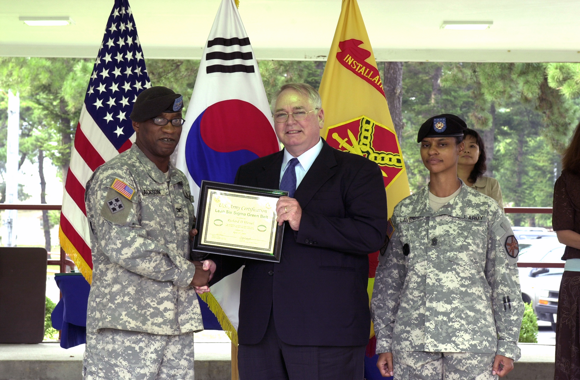 Fileus Army 52848 Usag Rc Lean Sigma Green Belt Award Ceremony On