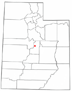 Location of Wales, Utah