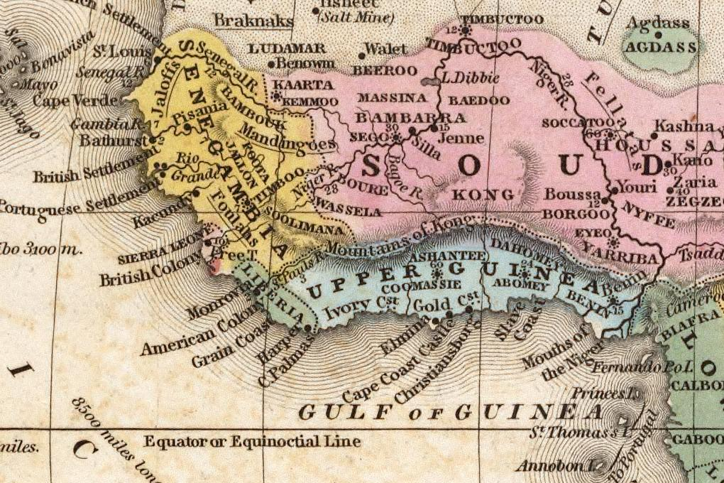 French West Africa West Africa Circa 1839