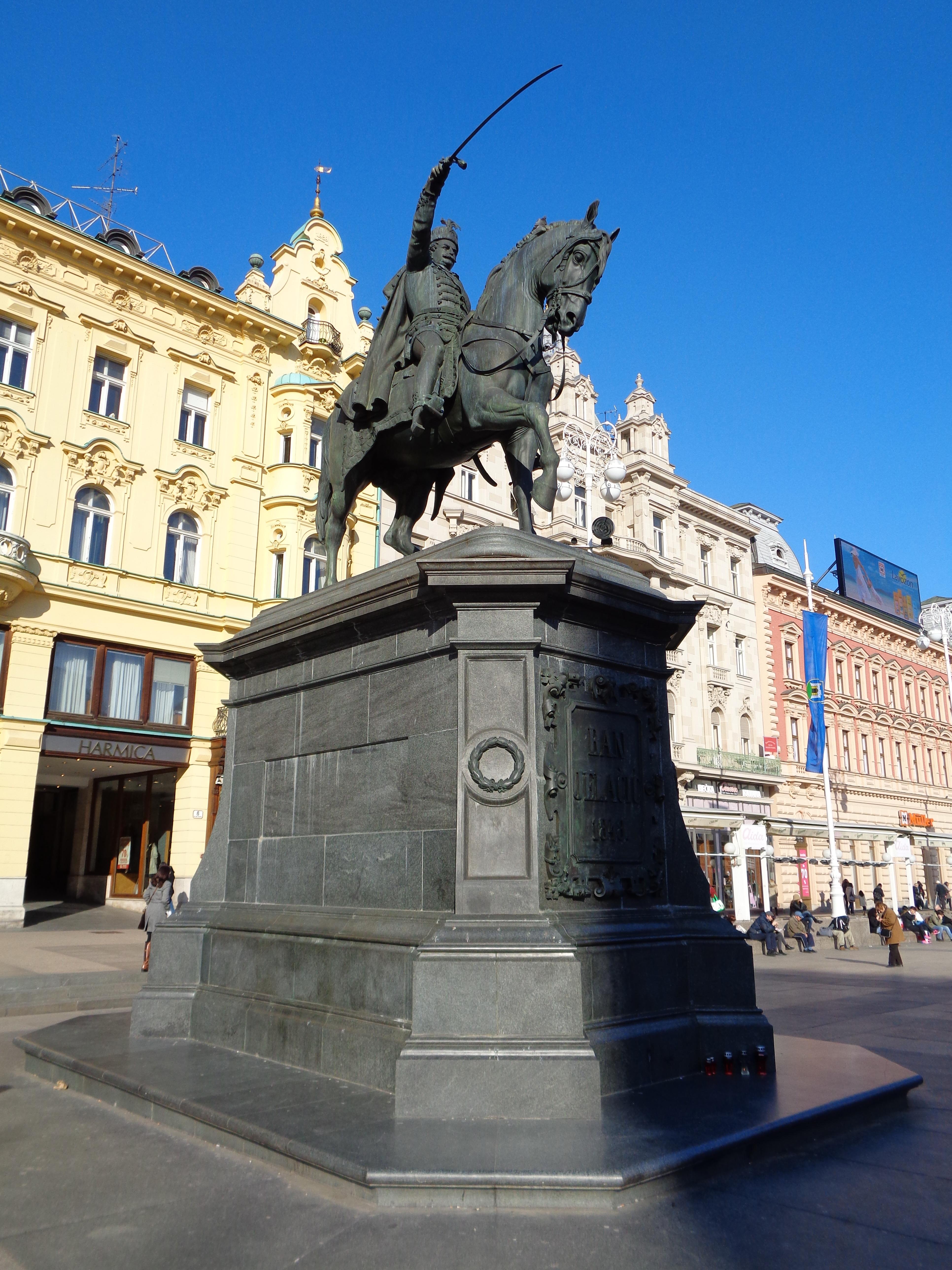 File Zagreb Spomenik Banu Josipu Jelacicu Jpg Wikimedia Commons