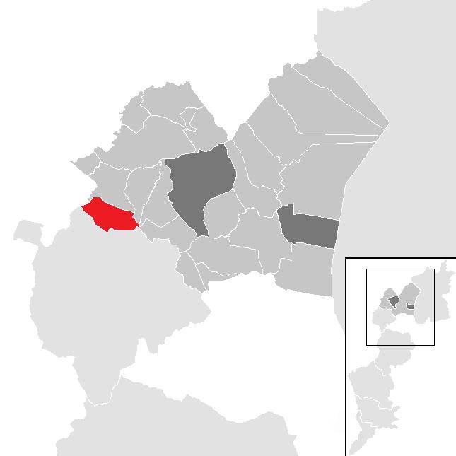 Lage der Gemeinde Zillingtal im Bezirk Eisenstadt-Umgebung (anklickbare Karte)