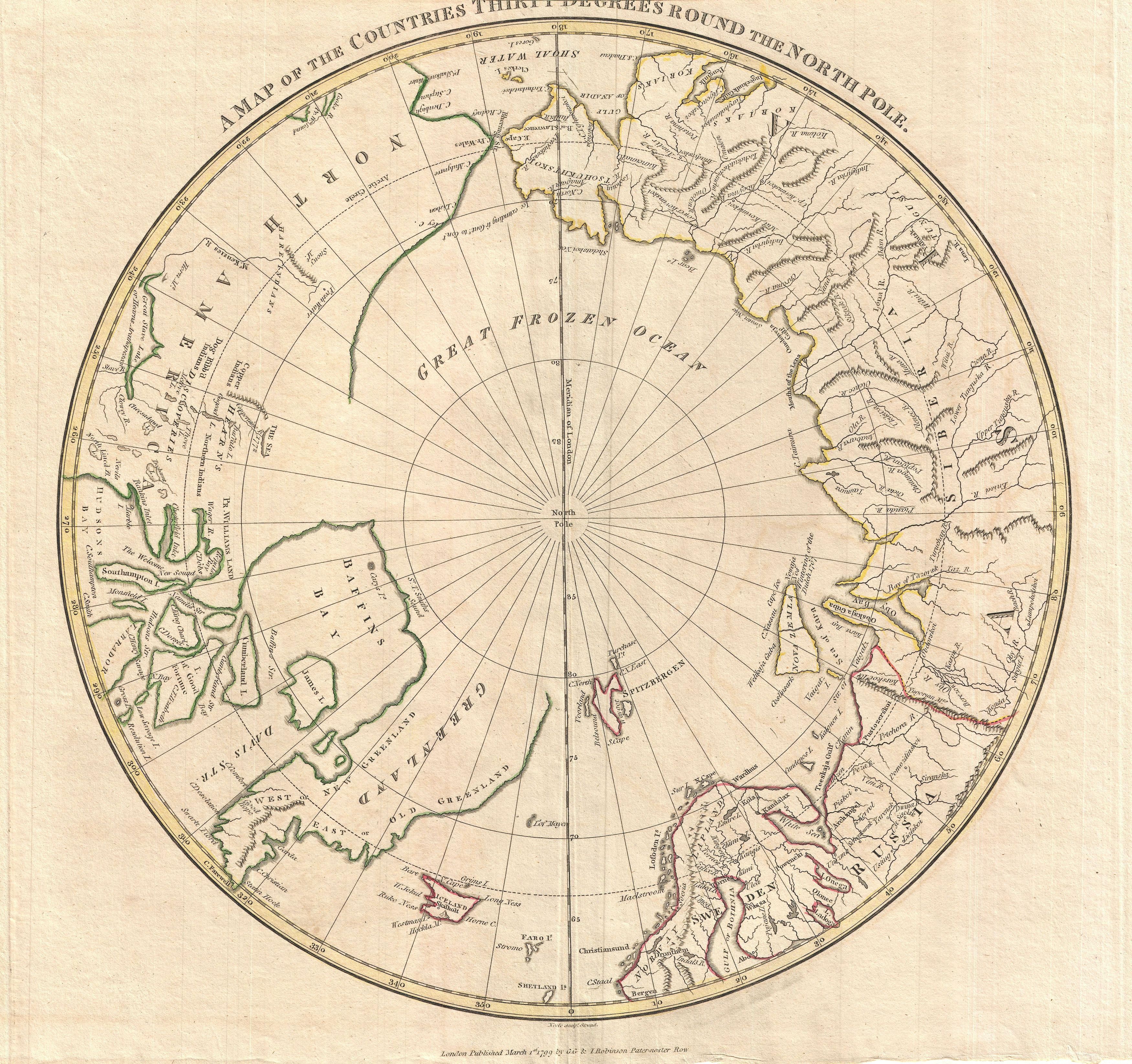 File1799 Clement Cruttwell Map of North Pole  Geographicus
