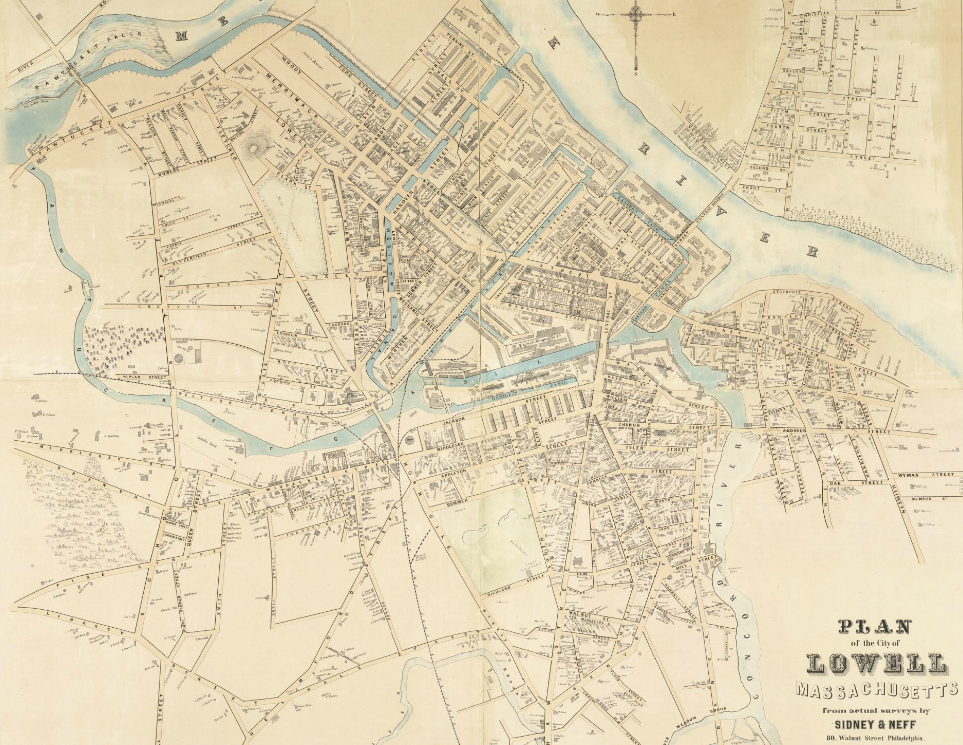 File:1850 Plan of the city of Lowell, Machusetts BPL ... on city street map manhattan ny, city street map jackson tn, city street map lincoln ne, city street map londonderry nh, city street map frankfort ky,