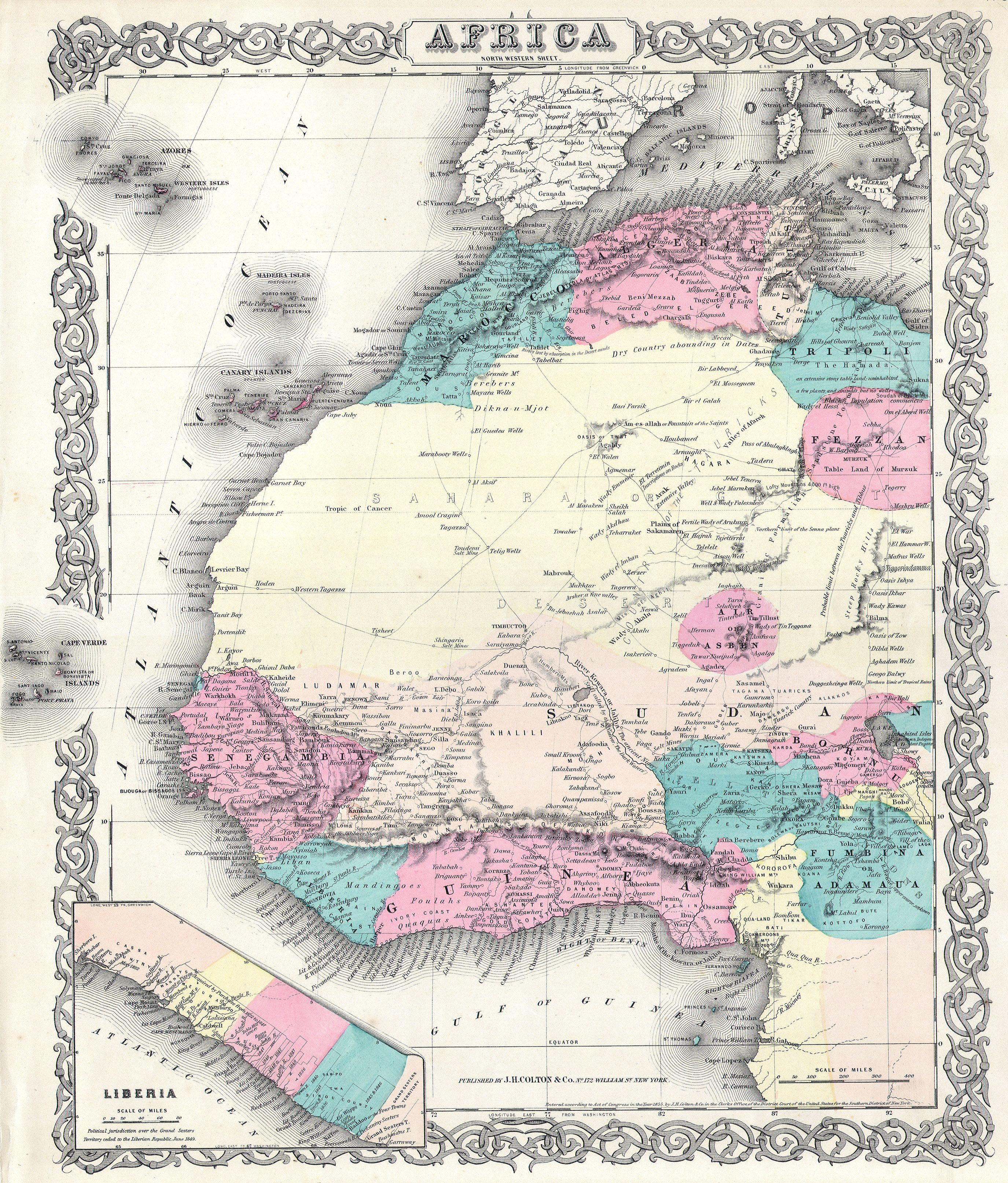 File 1855 Colton Map Of Western Africa Geographicus Africaw C 55