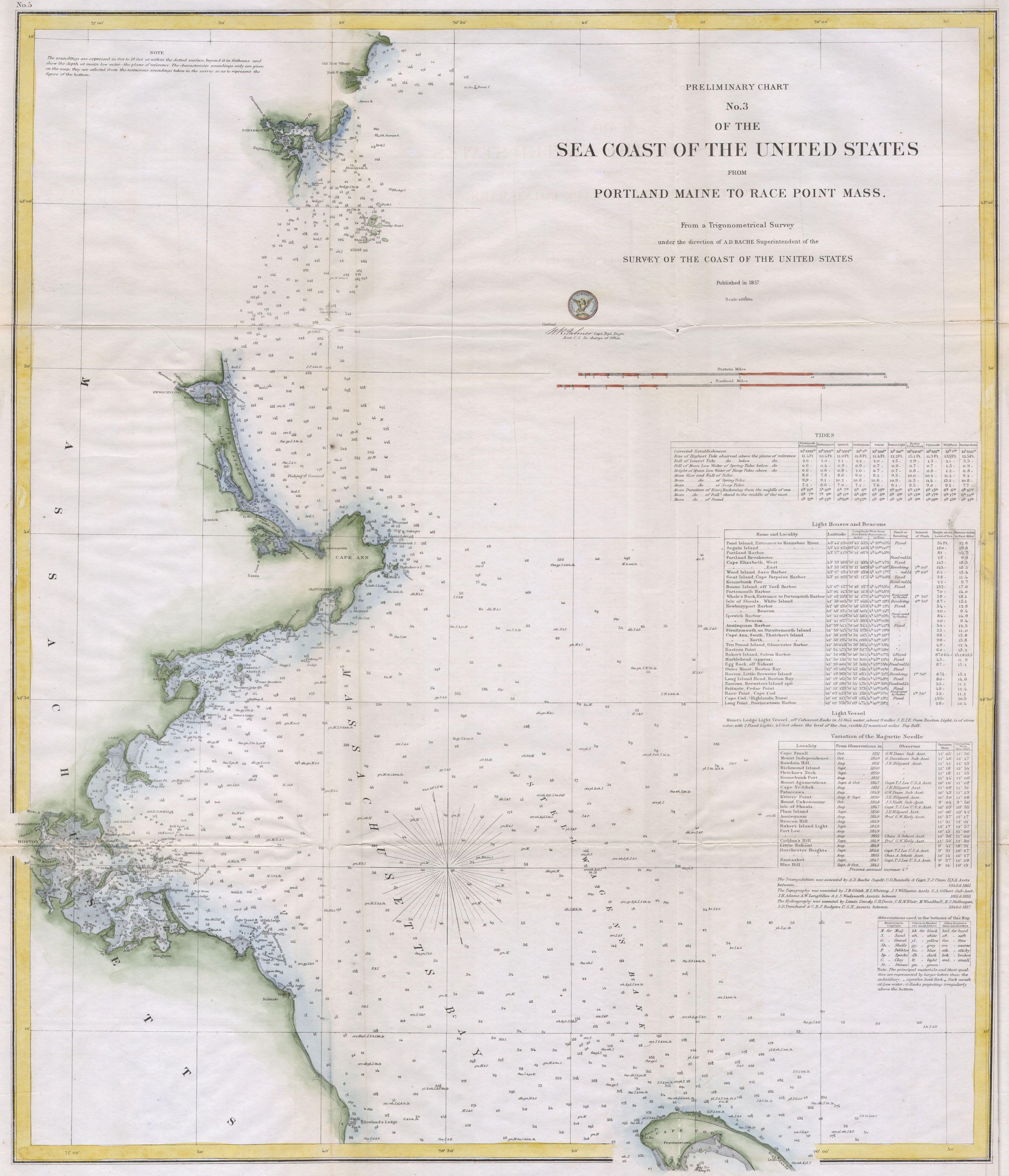 File1857 USCS Map Of Boston39s North Shore  Cape Ann