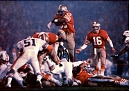 The 49ers playing against the Dolphins in Super Bowl XIX.