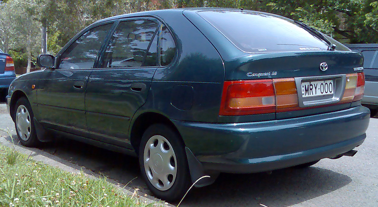 File 1996 1999 toyota corolla ae102r conquest seca 5 door hatchback 02 jpg wikimedia commons