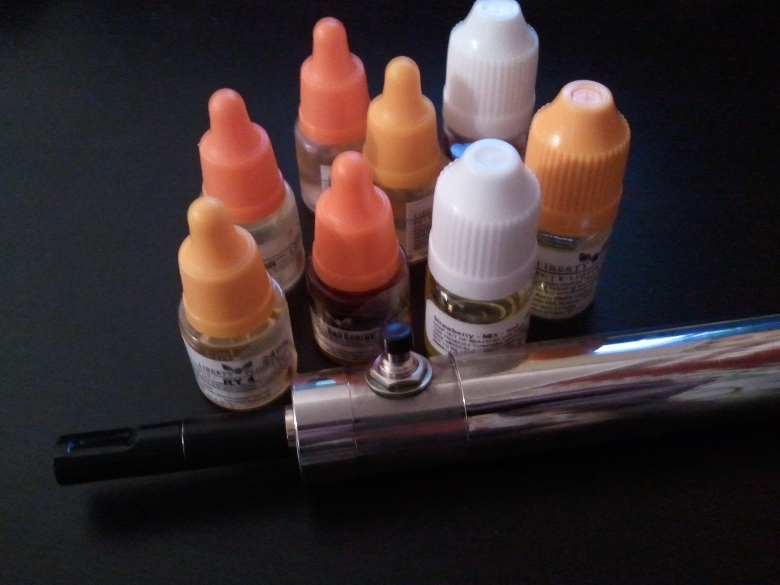 510N e cigarette and e liquids Manual e cigs and the old style of pushing a button