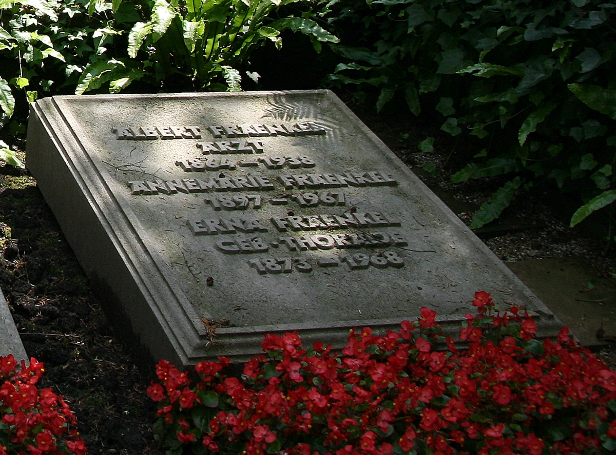 His grave in Heidelberg