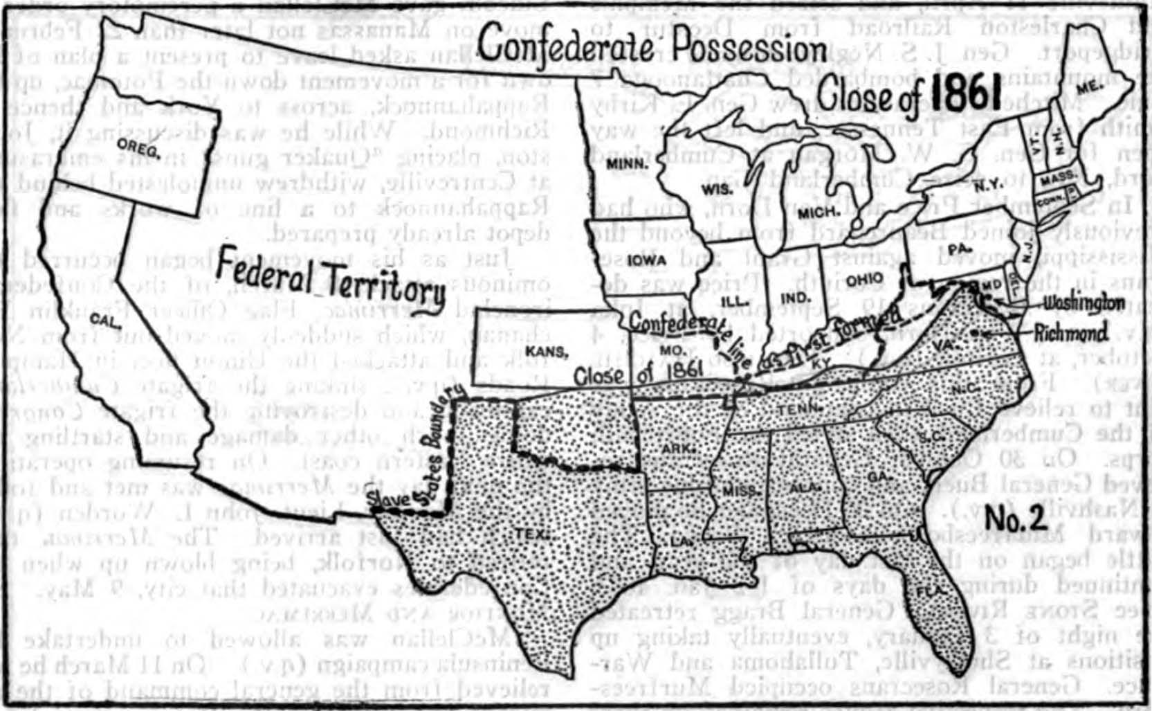 Map Of Civil War States