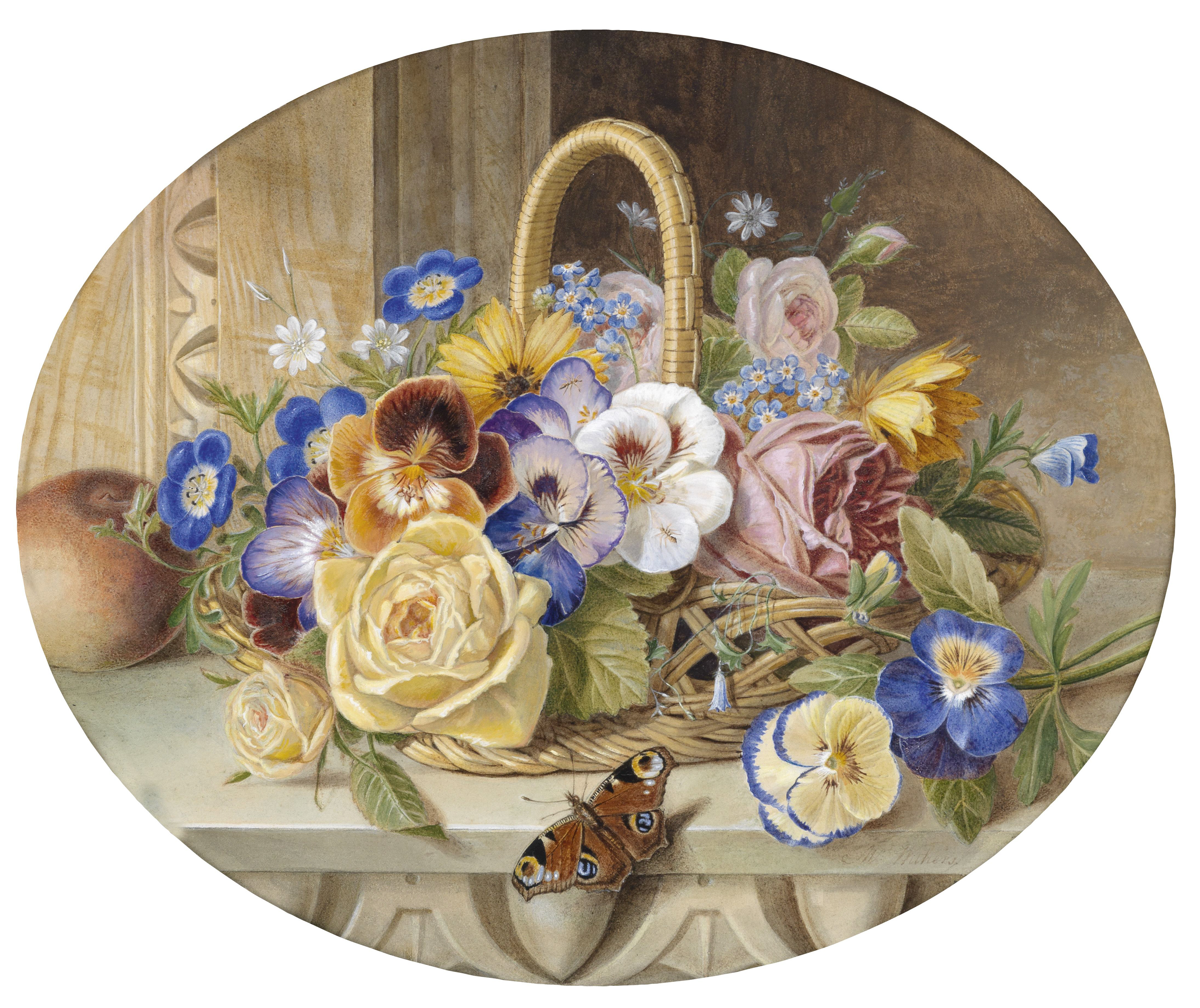 file augusta innes withers a basket of flowers jpg wikimedia commons