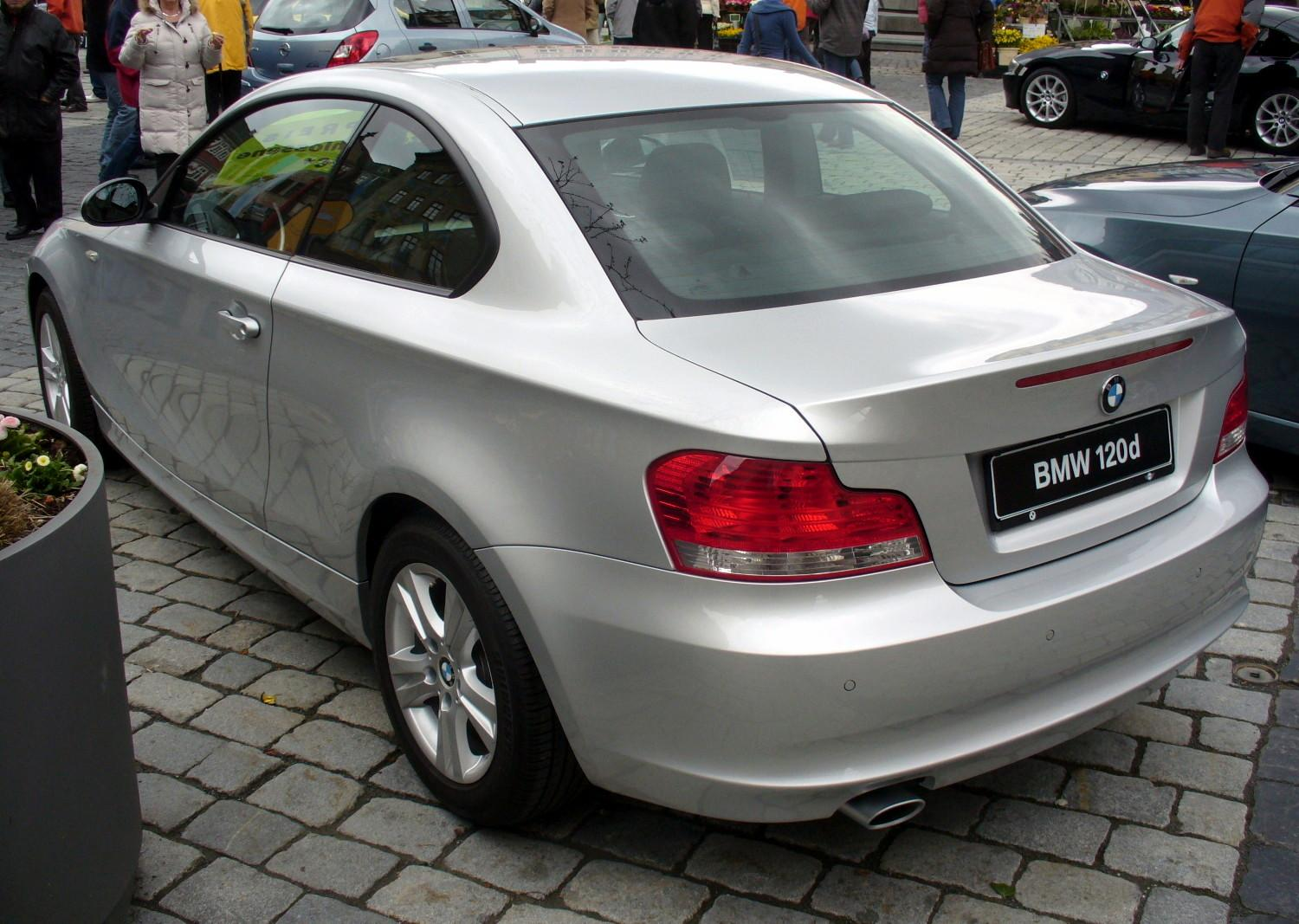 Filebmw E82 120d Titansilber Heckjpg Wikimedia Commons
