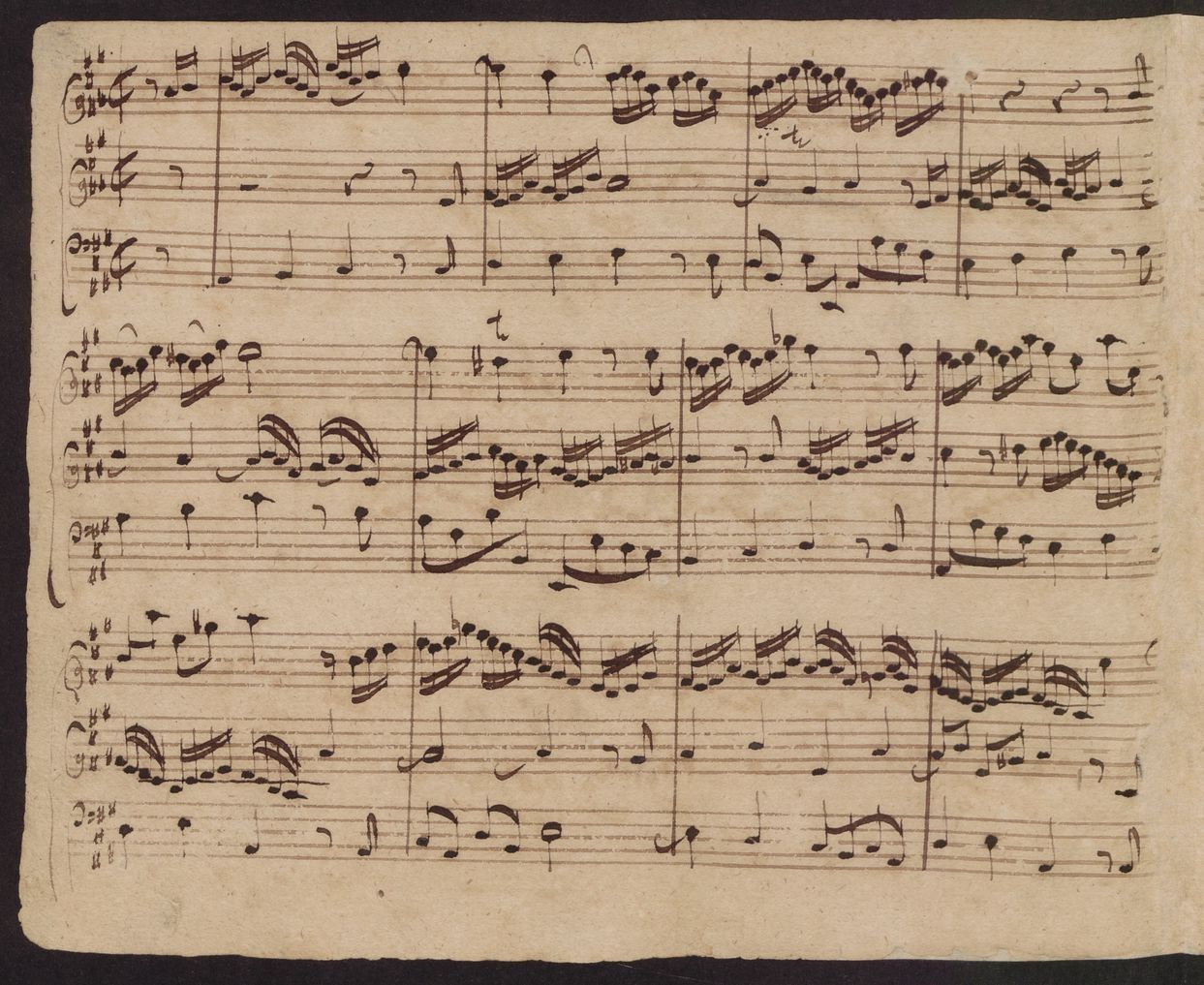 Allein Gott in der Höhu0027 sei Ehr, BWV 664a, in hand copy by Johann Tobias Krebs