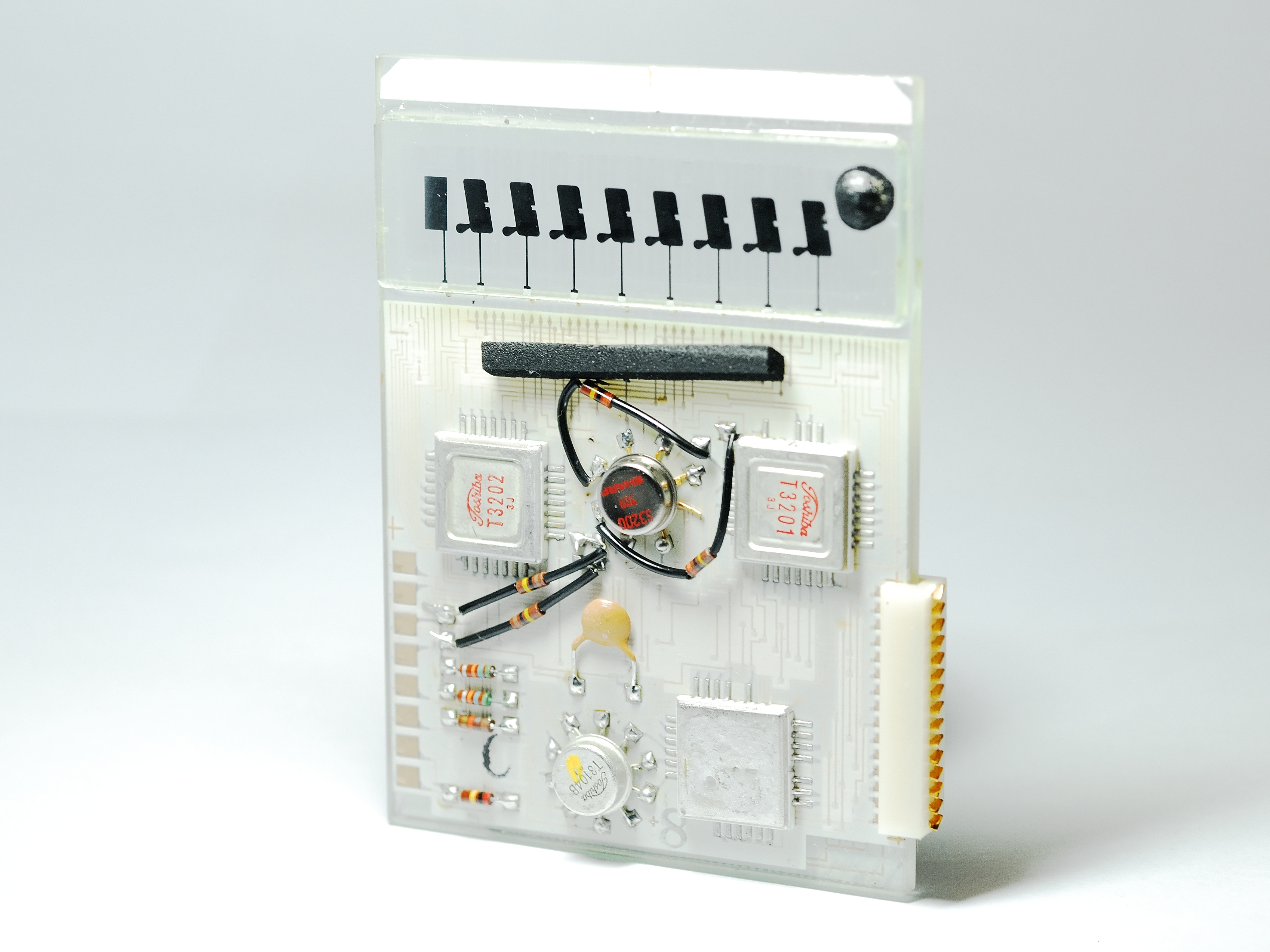 Fileback Side Of Glass Circuit Board In Sharp El 805 Calculator Electrical Wiring Made