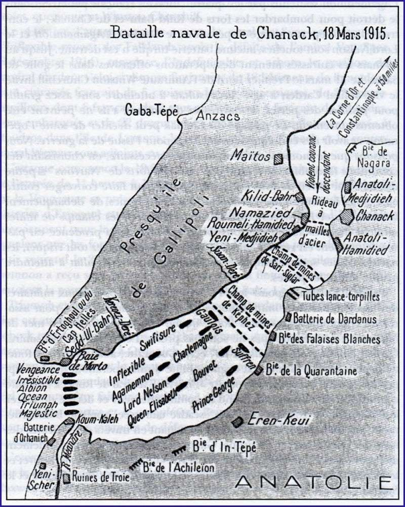 L'actu de la MARINE NATIONALE, de notre défense et de nos alliés /2 - Page 37 Bataille_navale_des_Dardanelles_1915_carte_ancienne