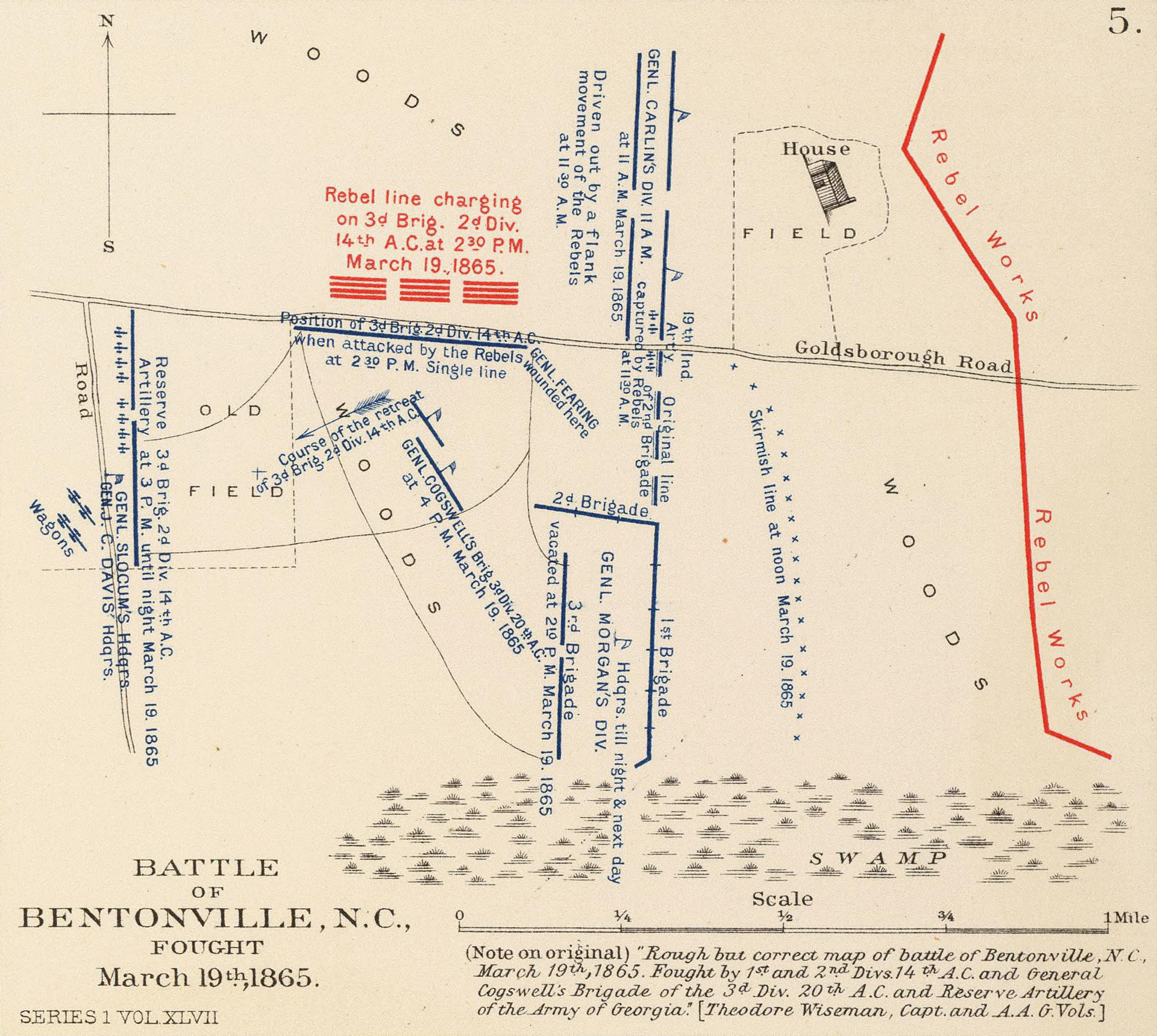 Map Of Georgia 1865.Battle Of Bentonville Wikipedia