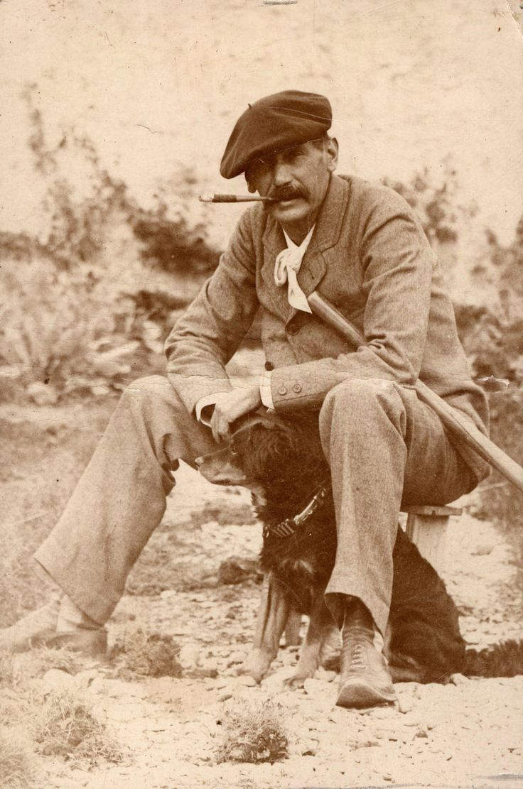 Luchas noveladas contra sí mismo o como un escritor trata de vivir... Benito_perez_galdos_y_perro_las_palmas_1890