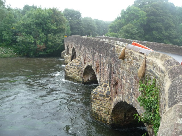 Bickleigh , River Exe and Bickleigh Bridge - geograph.org.uk - 1428714
