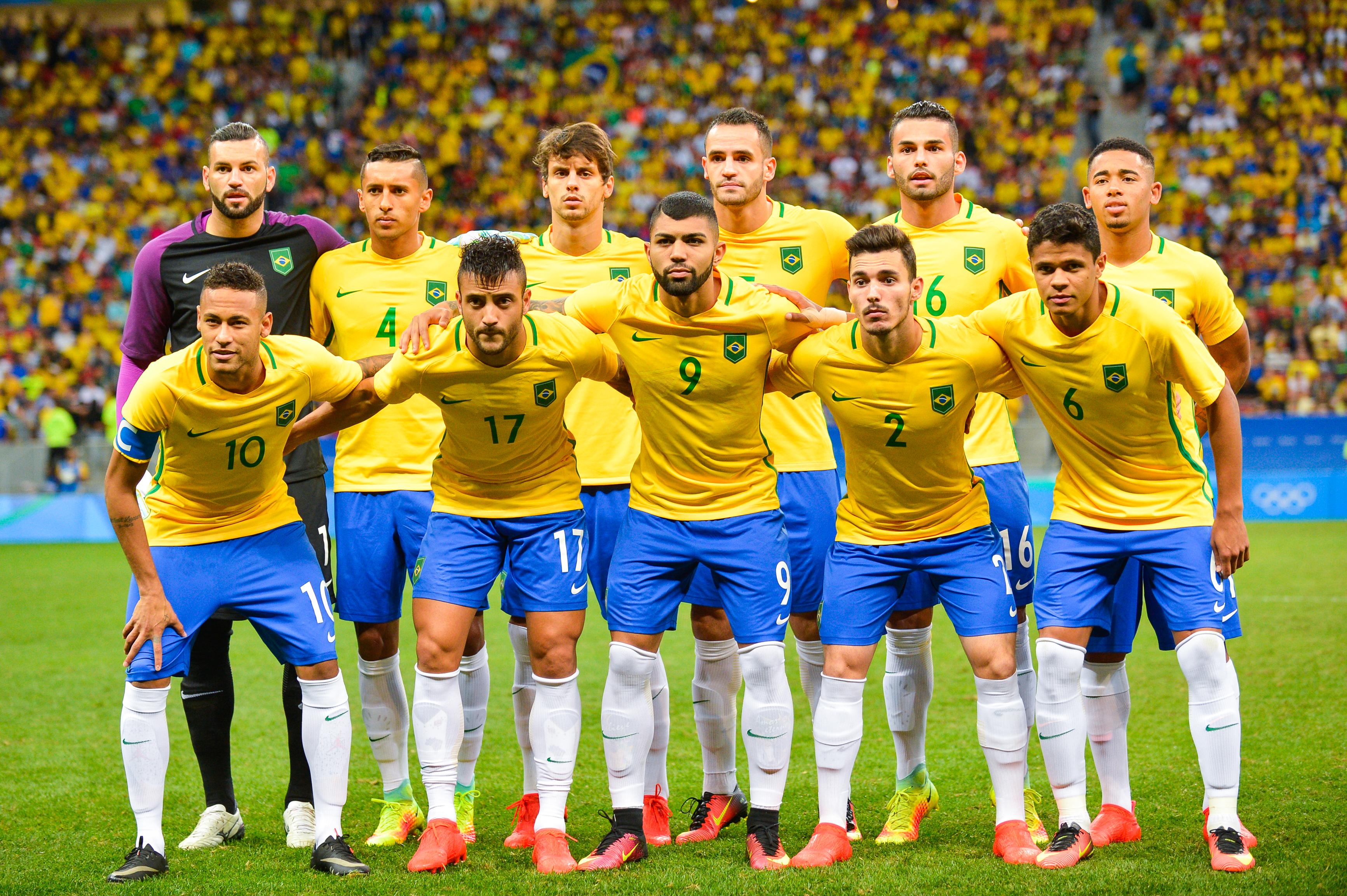 brazil men Brazil team at olympic football tournament rio 2016.
