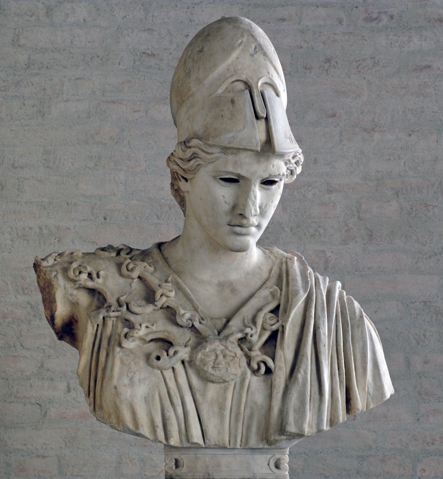 File Bust Athena Velletri Glyptothek Munich