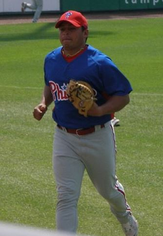 Panamanian baseball catcher Carlos Ruiz during 2007 Spring Training Carlos Ruiz.jpg
