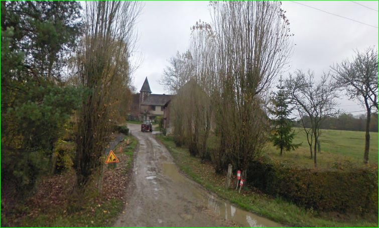 Champcevrais, Yonne, Burgundy, France. Prie, XIIth century castle. Now a farm.