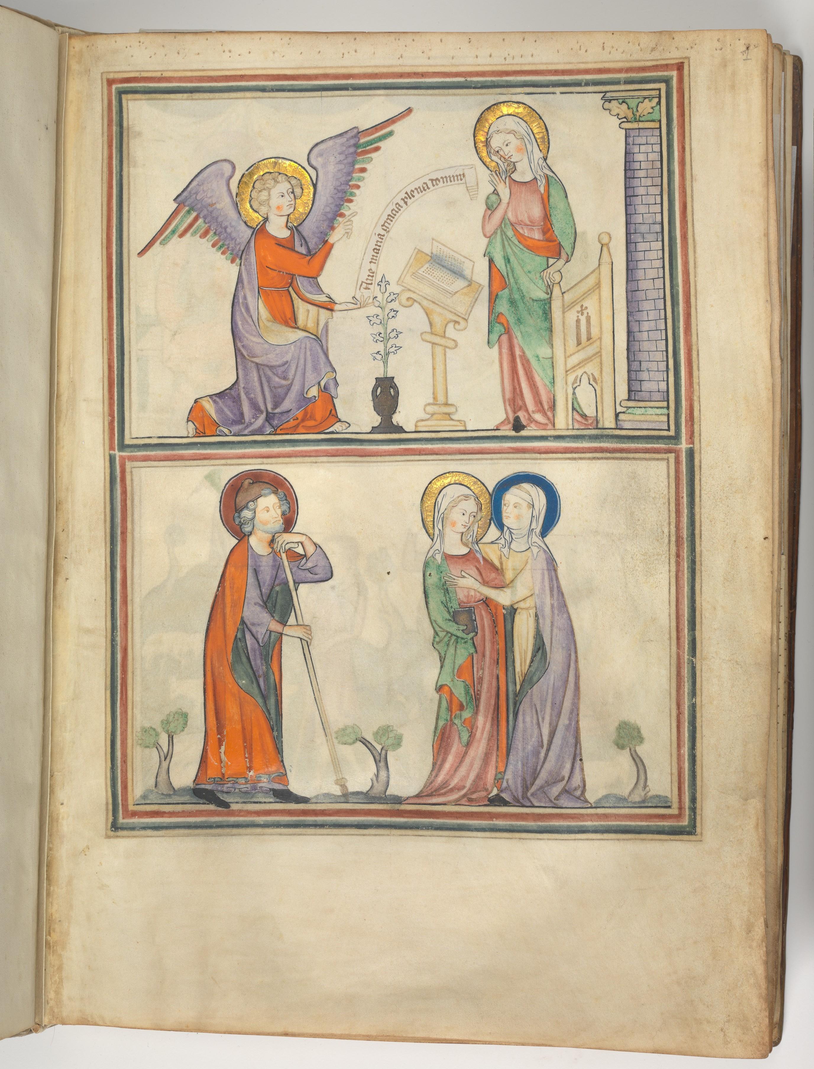 Image result for annunciation illuminated manuscript