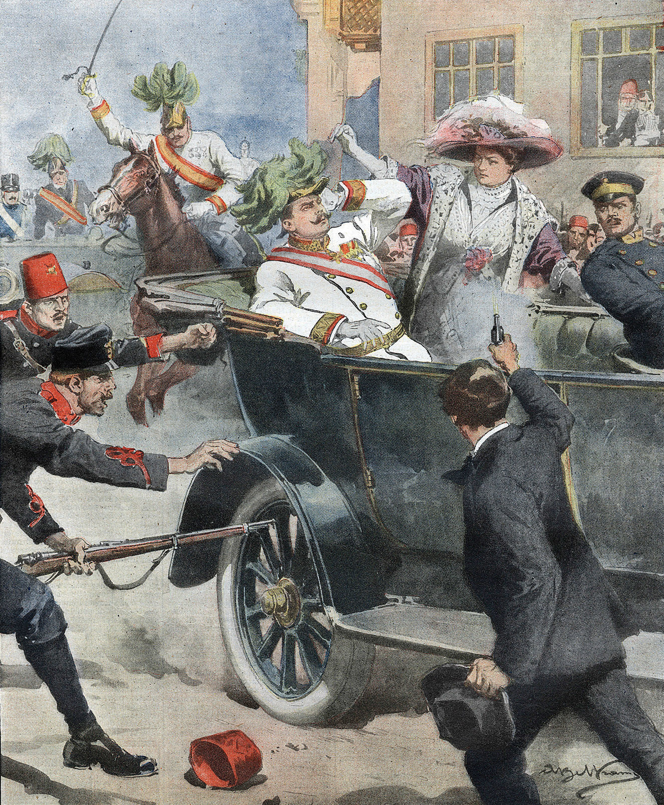 Assassination of Archduke Franz Ferdinand at Sarajevo