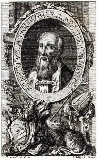 Ernst av Pardubitz, kopperstikk av Johann Balzer