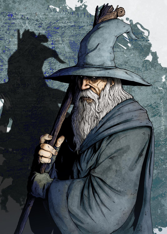 Depiction of Gandalf