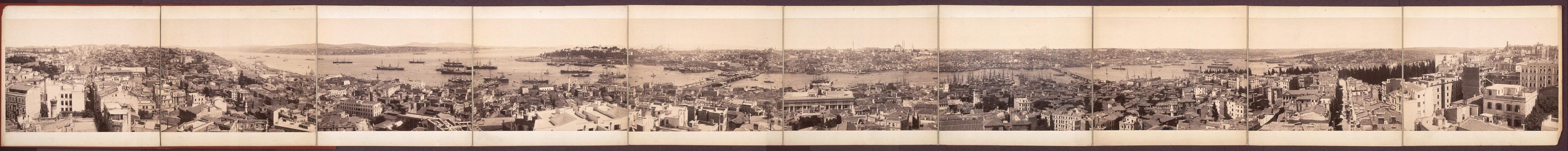 Вид с Галатской башни в 1890-х гг.
