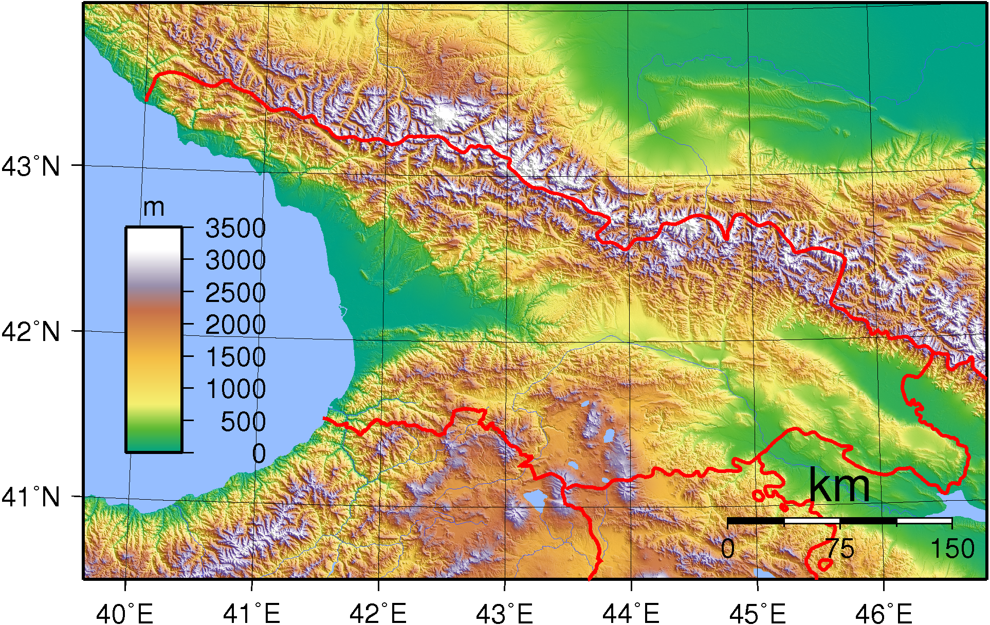 FileGeorgia Topographypng Wikimedia Commons - Topographical map of georgia