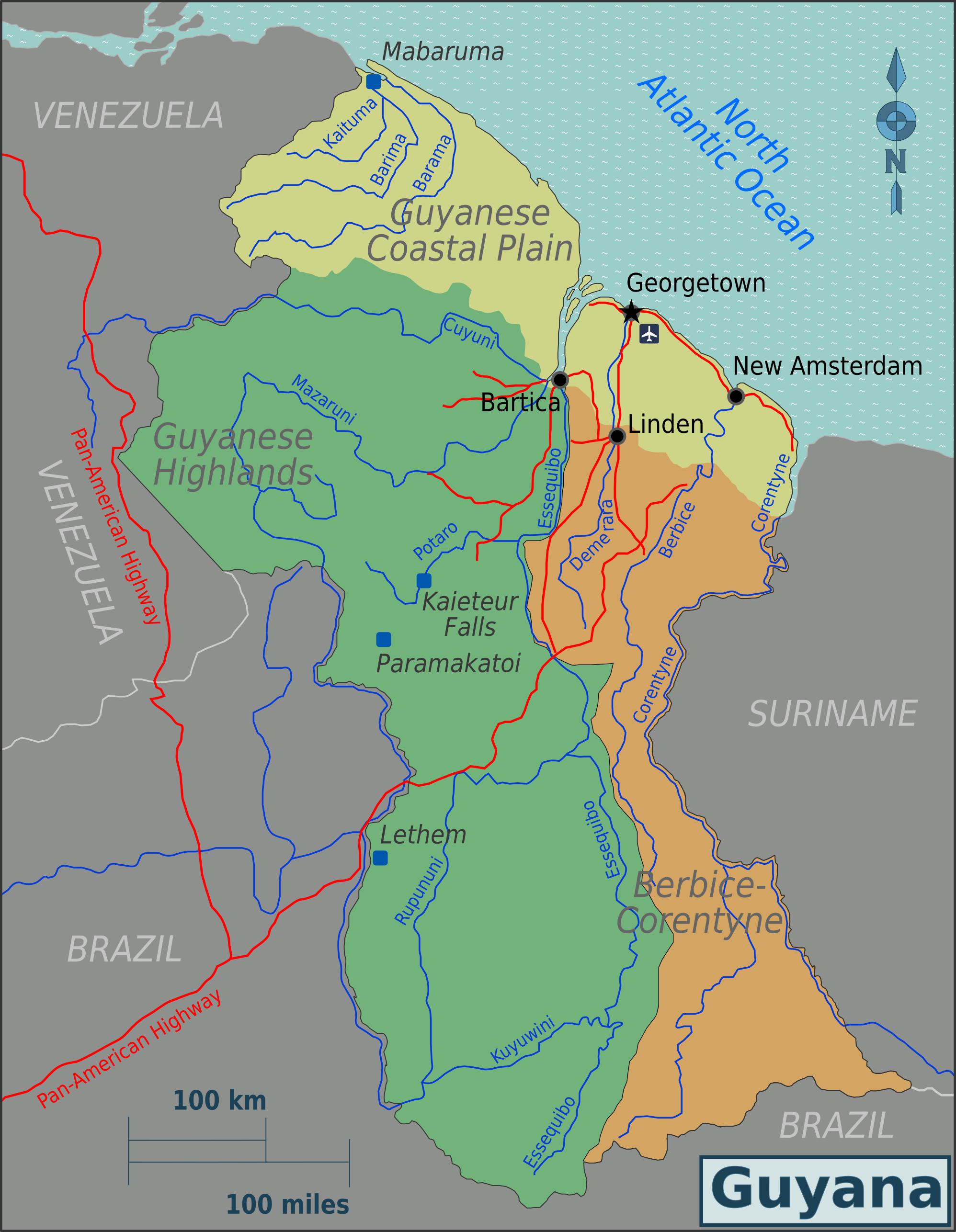 FileGuyana Regions mappng Wikimedia Commons