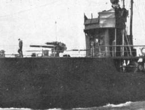 HMS Defender 1911 4 inch gun