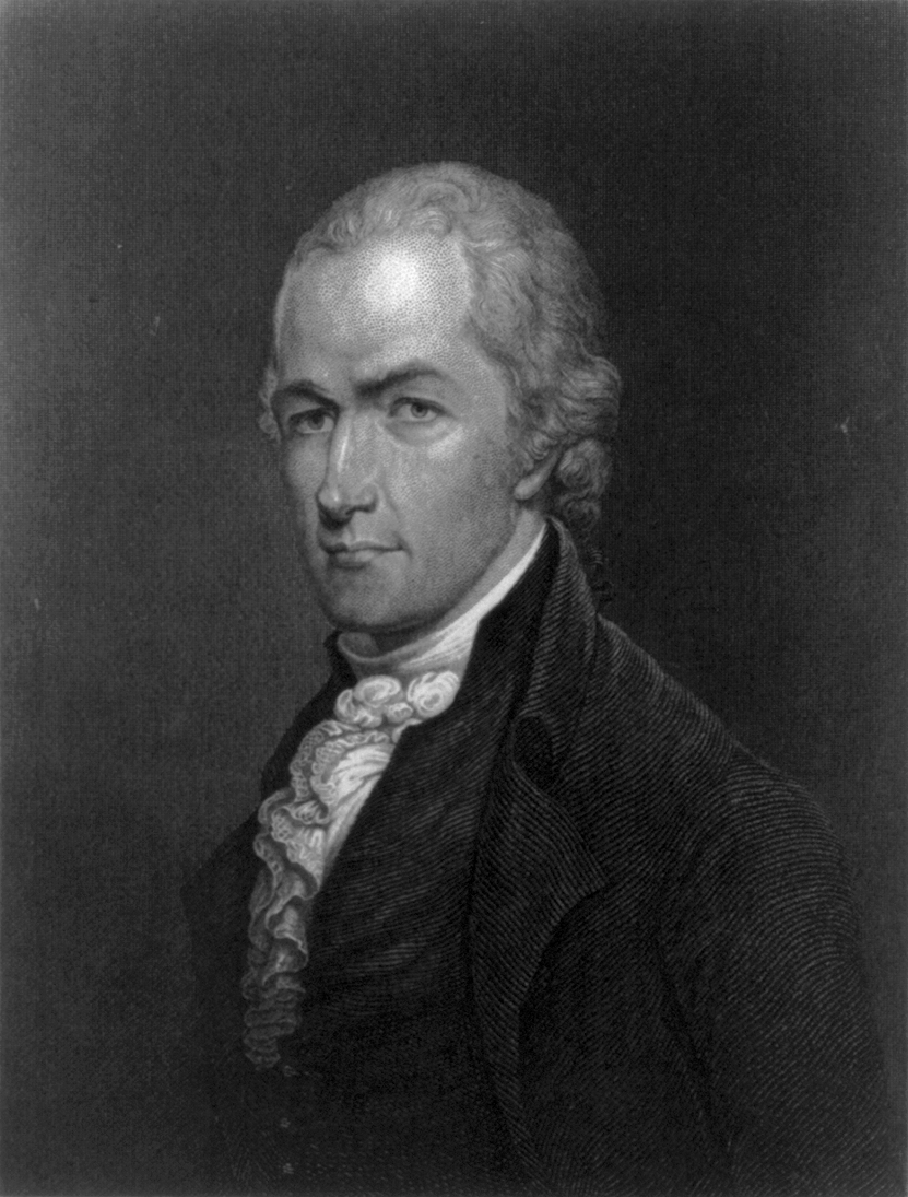A portrait of Alexander Hamilton shortly after the American Revolution