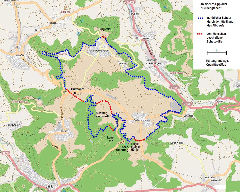 Heidengraben map.png