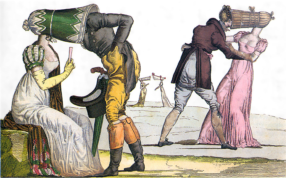 File:Invisibles-Tete-a-Tete-poke-bonnet-satire-1810s.jpg ...