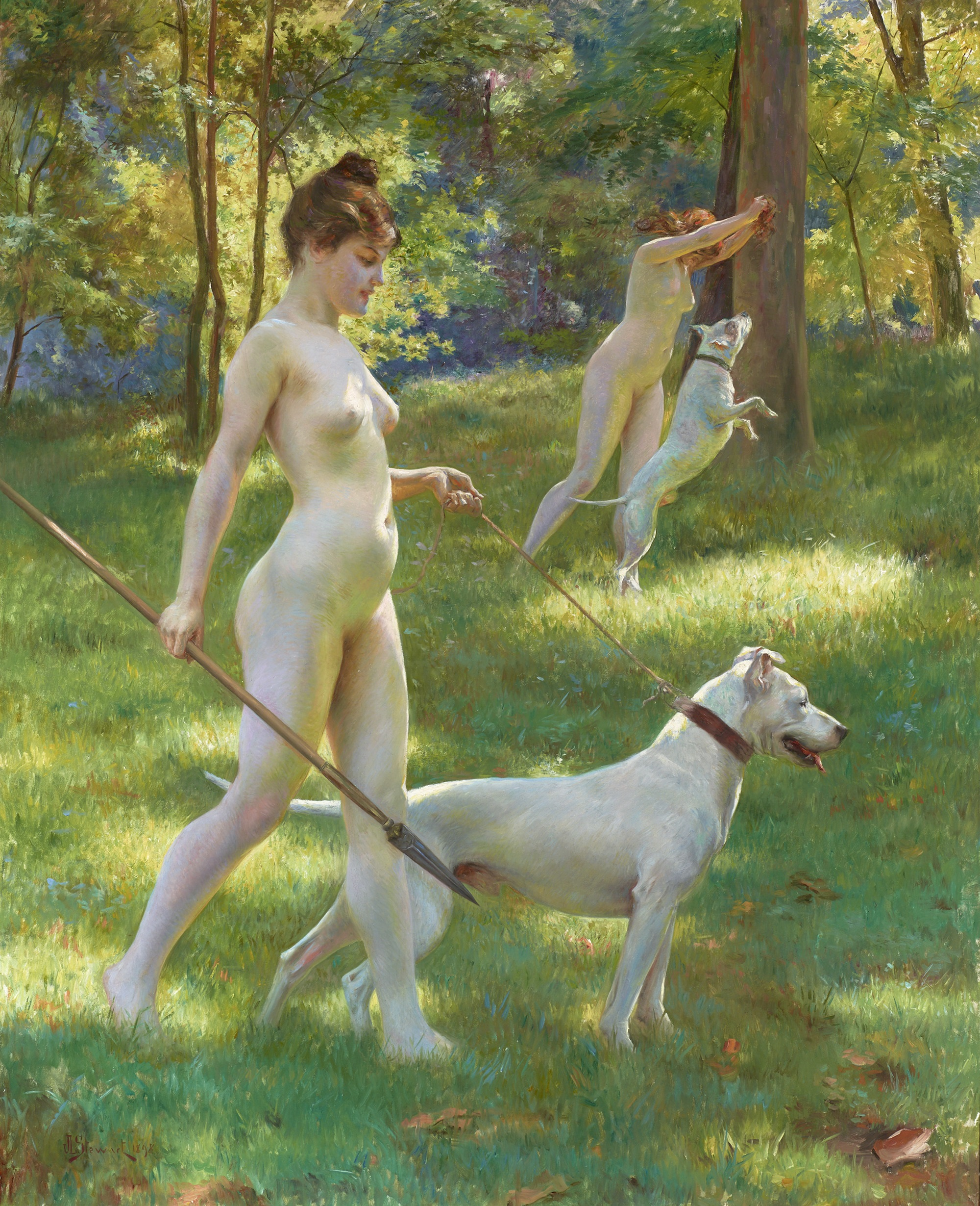 nude-women-and-a-deer