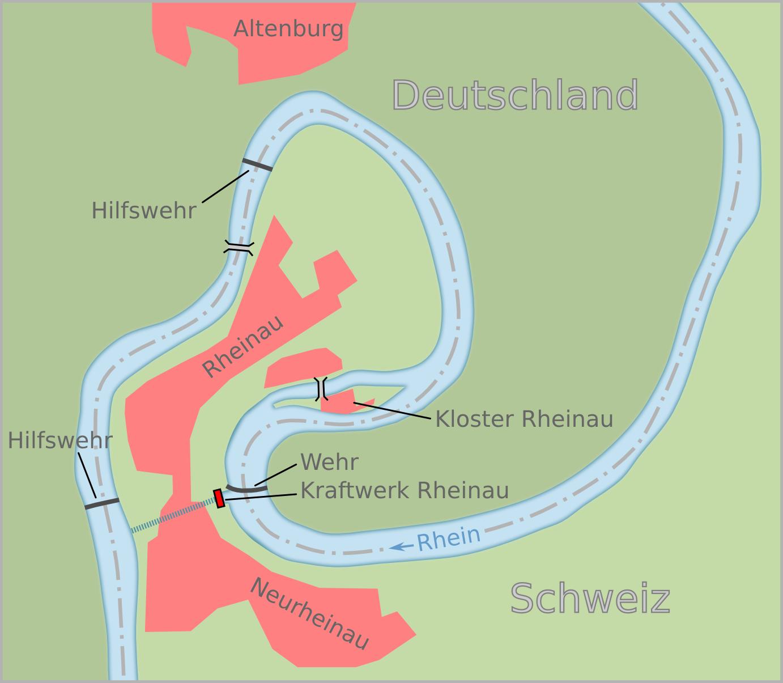 схема русла реки