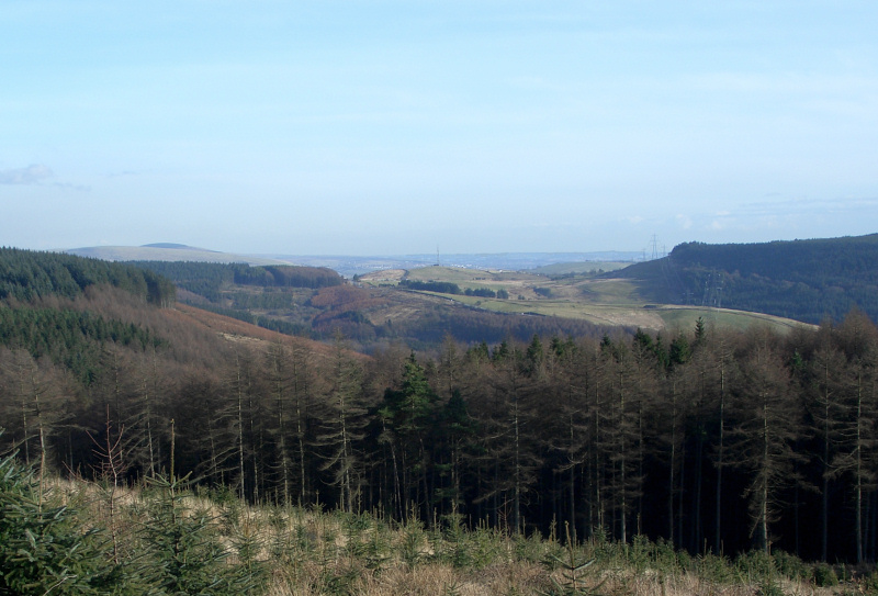 Landscape to the west of Maesteg - geograph.org.uk - 1737860