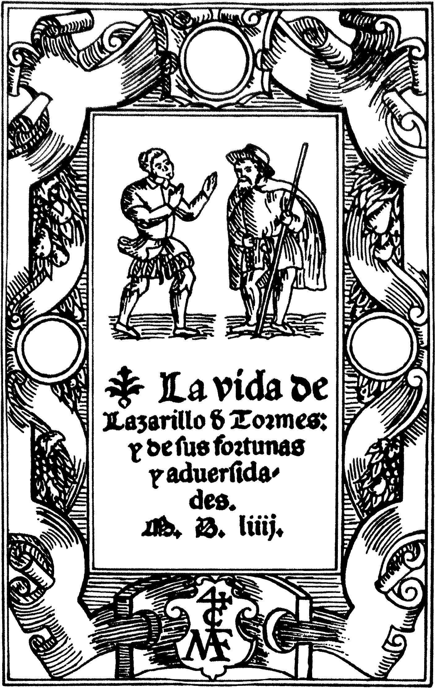 Portada del Lazarillo de Tormes sacada de la Wikipedia