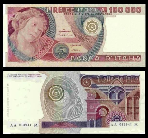 Lire 100000 (Botticelli)