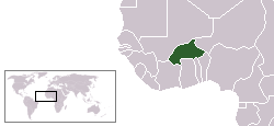 Location of Burkina Faso