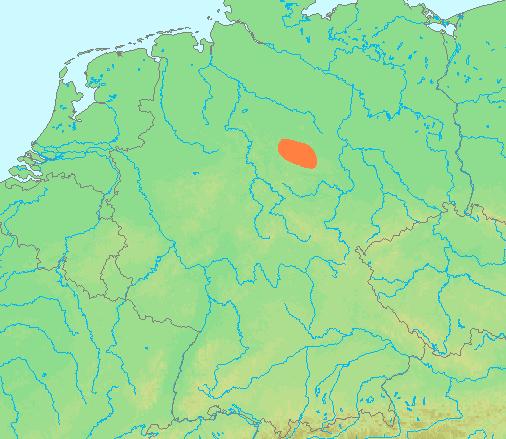 kaart harz gebied Harz (gebergte)   Wikipedia