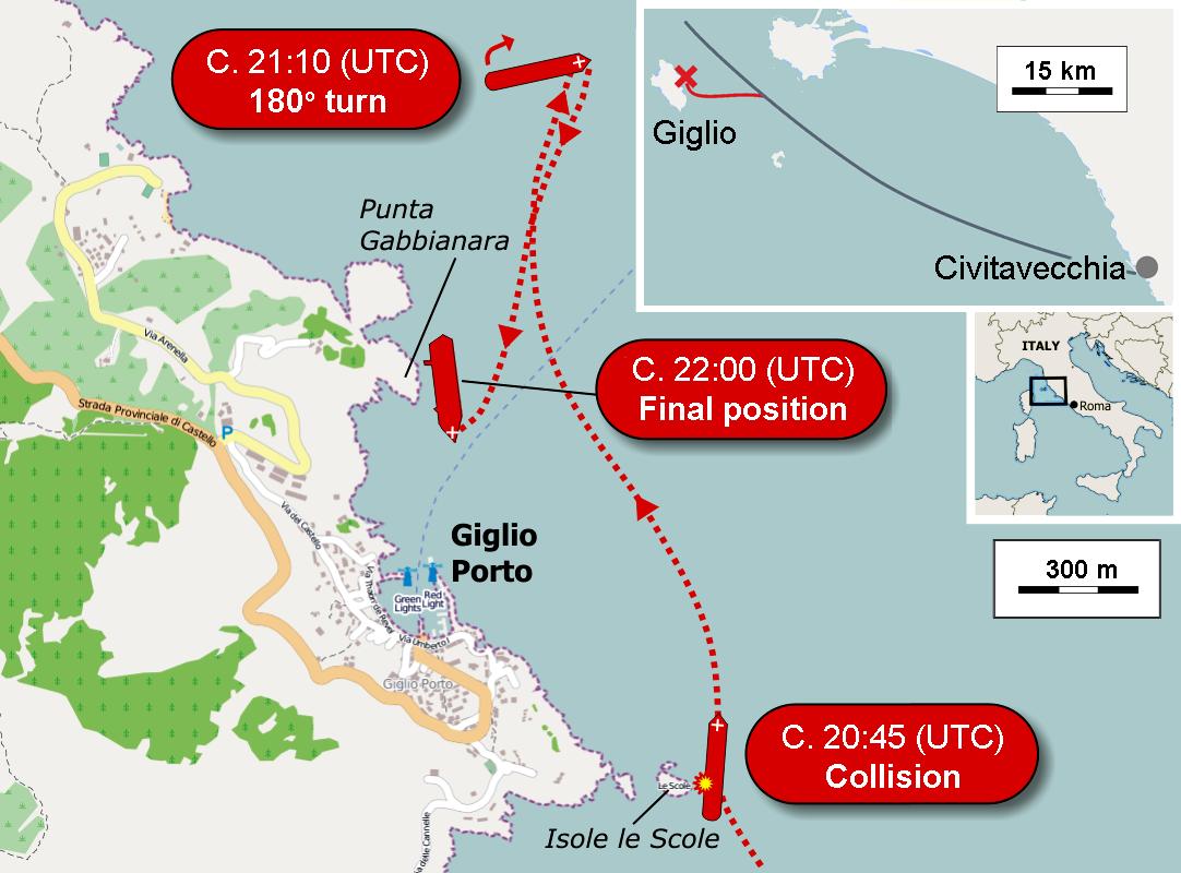 L'épave du Costa-Concordia. Un paquebot géant s'échoue en Italie - Page 5 Location_of_Costa_Concordia_cruise-ship_disaster_%2813-1-2012%29