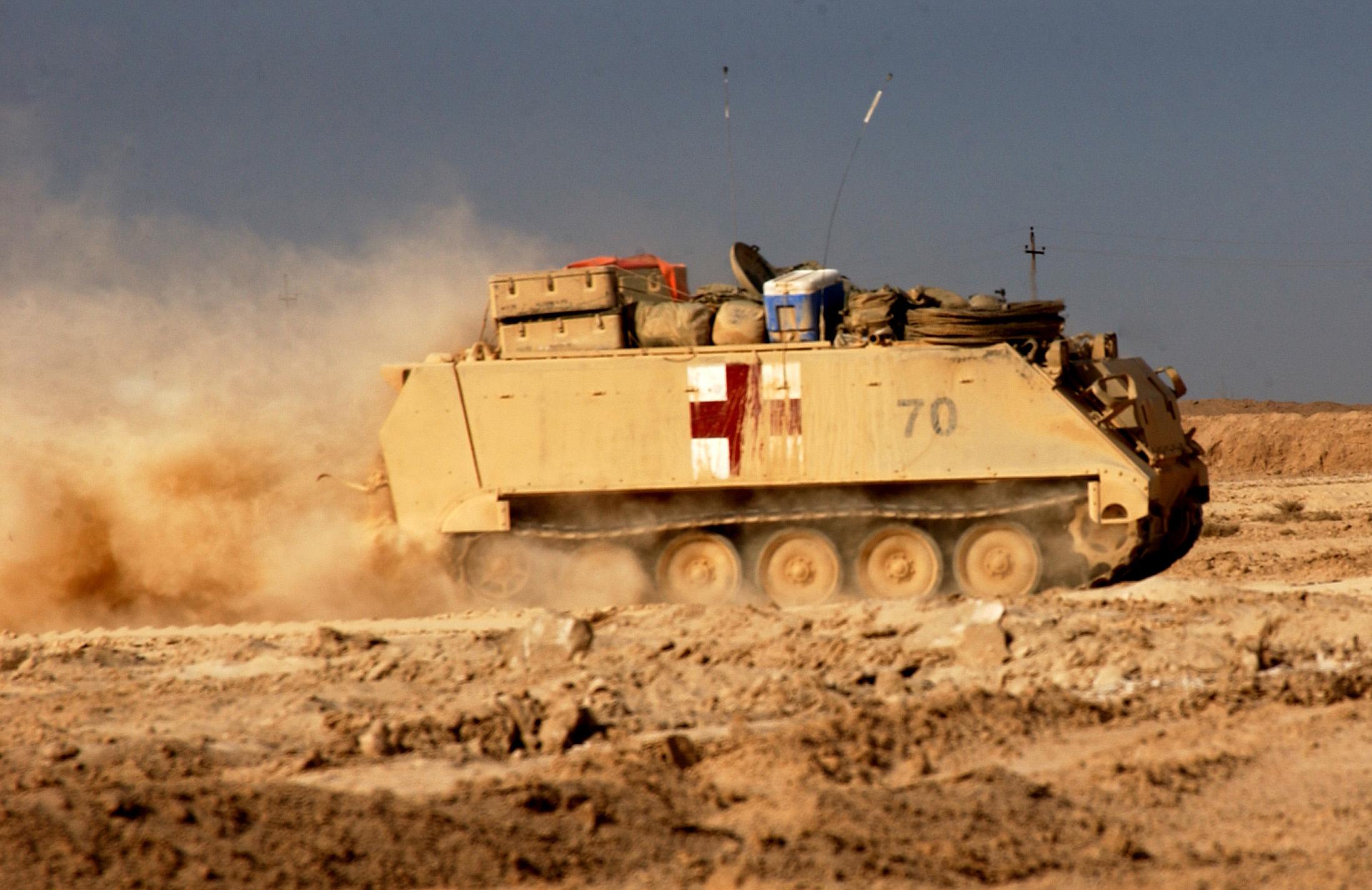 اكبر و اوثق موسوعة للجيش العراقي على الانترنت M113-ambulance-fallujah