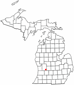 Location of Alto, Michigan