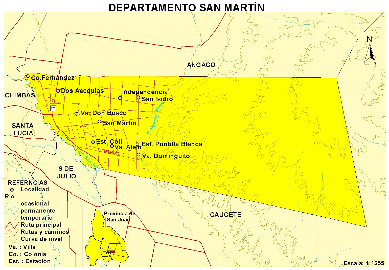 File Mapa Del Dpto San Mart 237 N Prov De San Juan