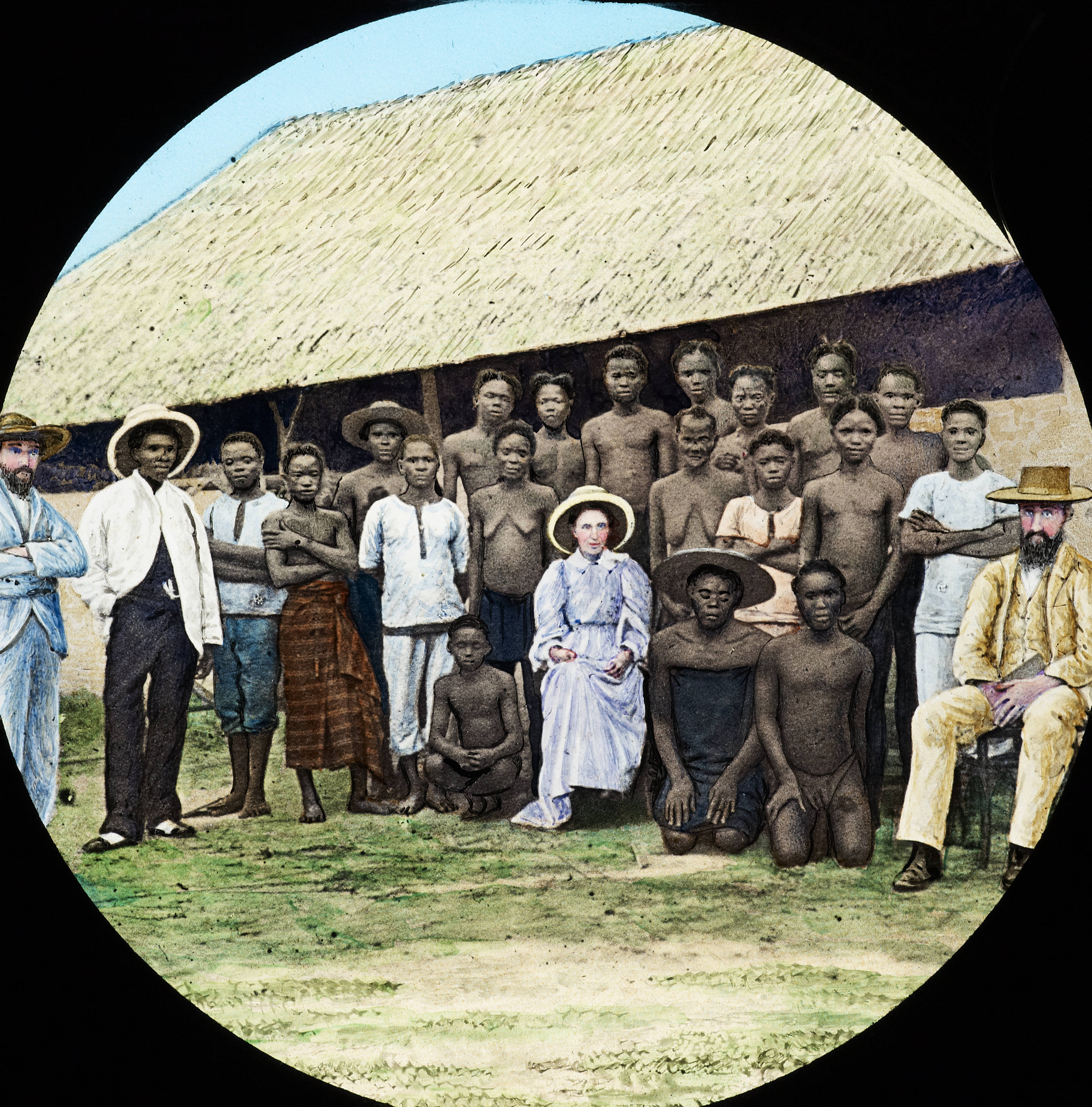 filemissionaries and congolese community congo ca 1900