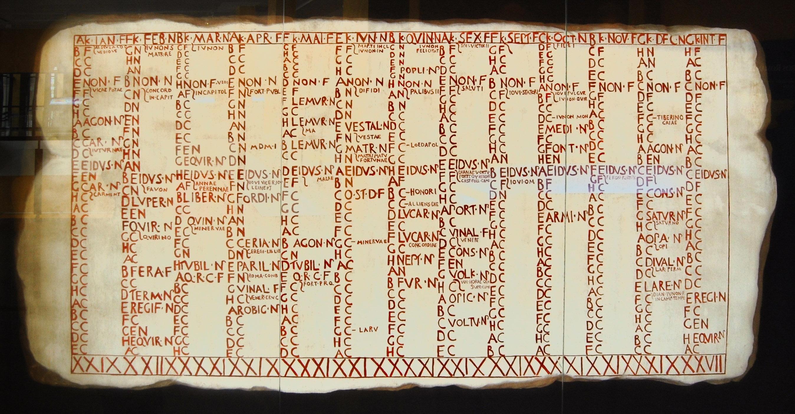 Calendario Romano.File Museo Del Teatro Romano De Caesaraugusta 43 Jpg Wikimedia Commons